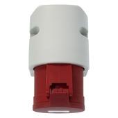 CEE stopcontact grijs/rood 5-polig 32A