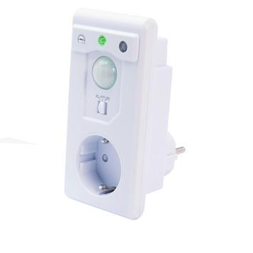 Profile schemerschakelaar en bewegingsmelder 2-in-1 plug-in wit