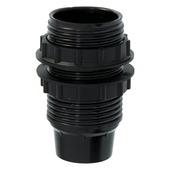 Plieger lampfitting E14 met 2 ringen zwart
