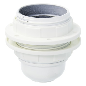 Plieger lampfitting E27 met 2 ringen wit