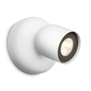 Philips opbouwspot Zesta wit - Incl 1X LED 6W dimbaar
