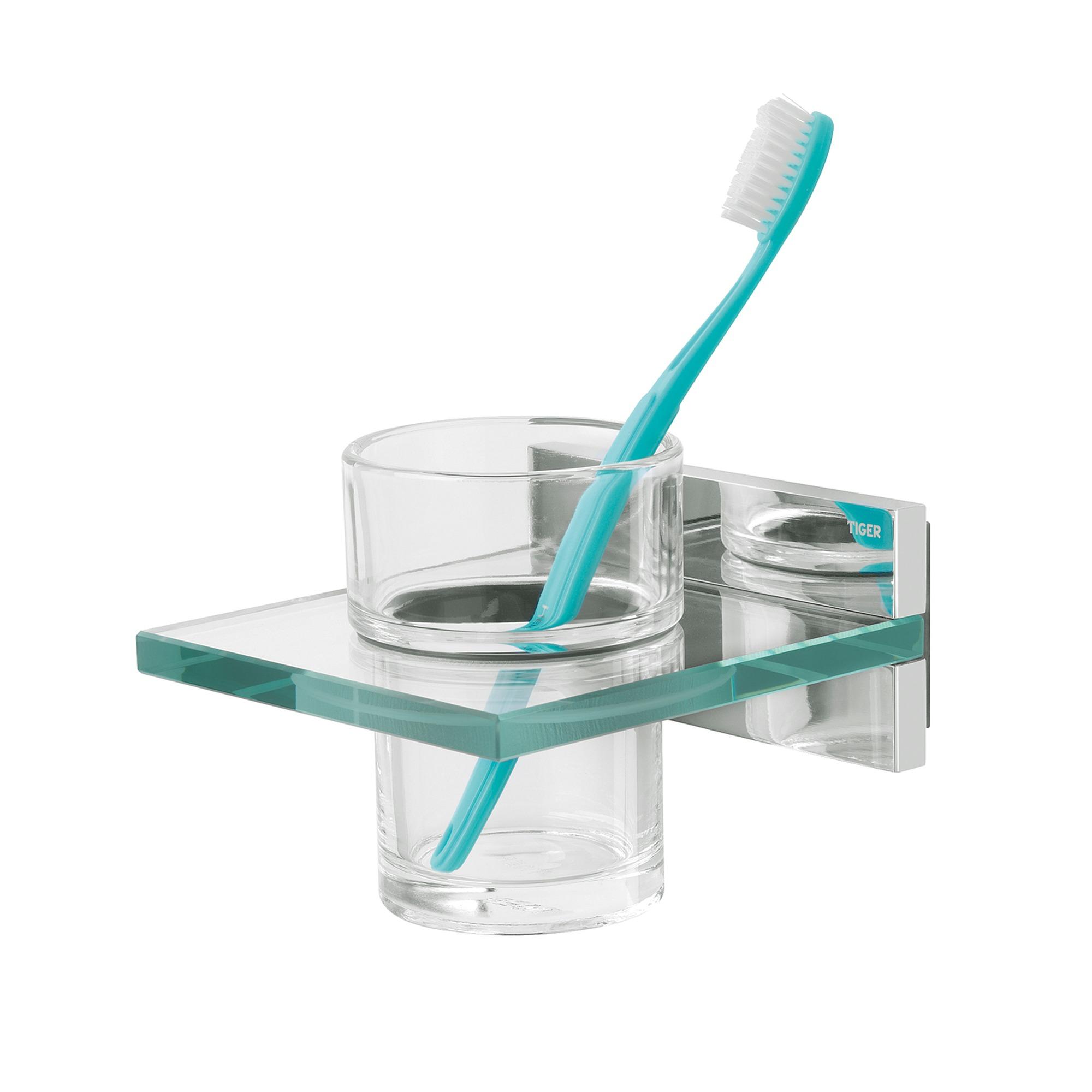 Tiger Safira bekerhouder, chroom-glas