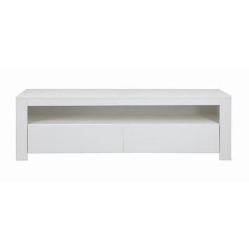 WOOOD tv meubel Lars 150x45x47 cm grenen gelakt wit