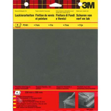 3M™ Wetordry™ schuurpapier p240 4 stuks