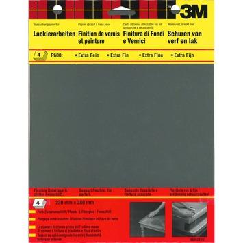 3M™ Wetordry™ schuurpapier p600 4 stuks