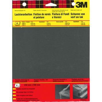3M™ Wetordry™ schuurpapier mixpack 4 stuks