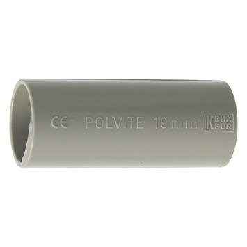 "Pipelife PVC Sok Slagvast 3/4"" 19 mm Grijs 10 Stuks"
