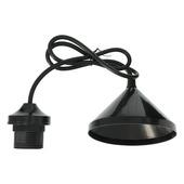 Lamppendel E27 zwart