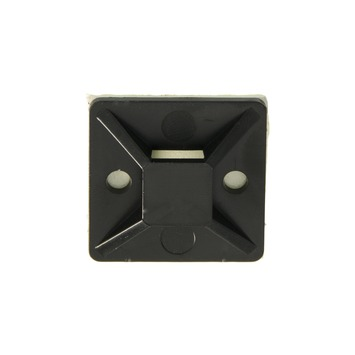 Plieger bevestigingsplaat voor bindband zwart (10 stuks)