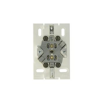 Attema K25 stopcontact dubbel RA wit leidinggootsysteem K25
