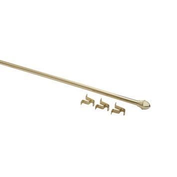 Uitschuifbare caferod goud complete set 75-125 cm