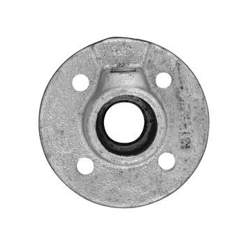 Novidade steigerbuis koppelstuk ronde voetplaat 27 mm verzinkt