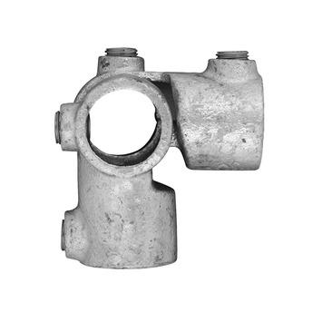 Novidade steigerbuis koppelstuk verstelbaar hoekstuk 27 mm verzinkt