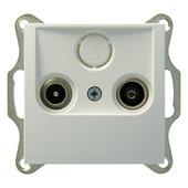 Berker B.1-B.3-B.7 Stopcontact  Coax Wit
