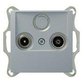 Berker B.1-B.3-B.7 Stopcontact  Coax Aluminium