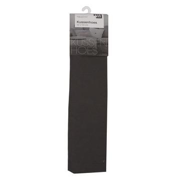 Kussenhoes uni antraciet 50x50 cm