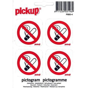 Pickup pictogram verboden te roken 10x10 cm