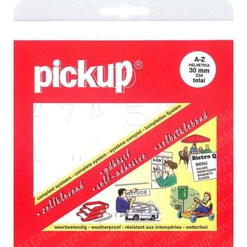 Pickup plakcijfers 0-9 Helvetica wit 30 mm