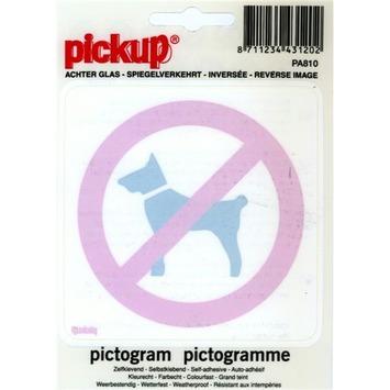 Pickup pictogram achter glas verboden voor honden