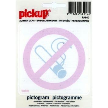 Pictogram  Verboden te Roken 10 x 10 cm gespiegeld