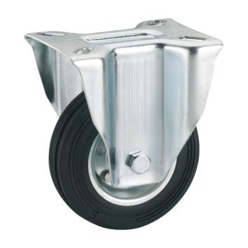 Bokwiel Rubber met plaatbevestiging Ø 200 mm max. 210 kg