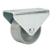 Meubelbokwiel grijs 15 mm (max. 20 kg) (2 stuks)