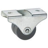 Bokwiel parket dubbel grijs 25 mm met plaat (max. 50 kg)
