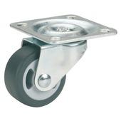 Parketzwenkwiel grijs 25 mm met plaat (max. 15 kg)