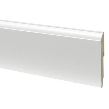 CanDo muurplint kwart rond wit gegrond 1,9 x 12 x 240 cm