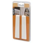 CanDo eindstuk voor hoge muurplint wit 2 stuks