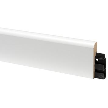 CanDo muurplint koloniaal met kabelgoot wit gegrond 1,9 x 8 x 240 cm