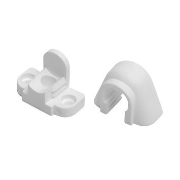 Schuifsteun 12,7 mm gordijnroede wit 2 stuks