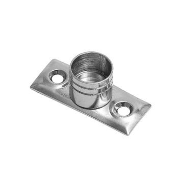 In de dag steun 12,7 mm gordijnroede aluminium 2 stuks