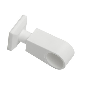Zelfklevende eindsteun 12,7 mm gordijnroede wit 2 stuks