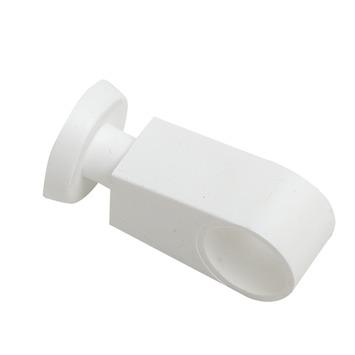 Middensteun 12,7 mm gordijnroede wit 2 stuks