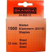 Skandia nieten 12 mm (1000 stuks) voor 53-053-530 nietmachines