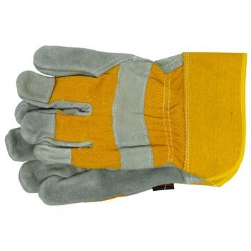 Skandia werkhandschoenen rundleer grijs/geel XXL