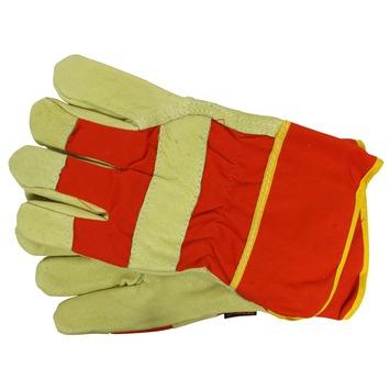 Skandia werkhandschoenen varkensleer oranje/geel XXL