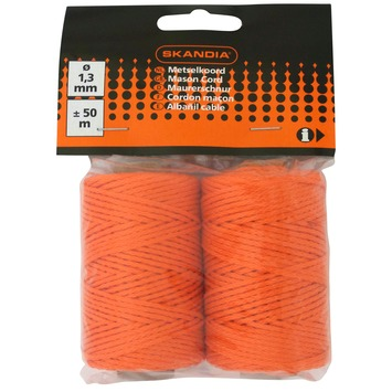 Skandia metselkoord oranje 1,3 mm 50 m (rol 2 stuks)