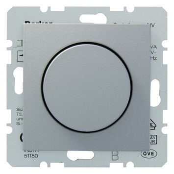 Berker B.1-B.3-B.7 Spoelentrafo Dimmer 20-500W Aluminium