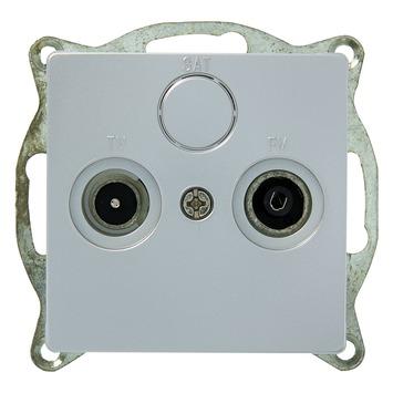 Plieger Luna stopcontact antenne en coax aluminium