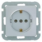 Plieger Luna stopcontact enkel geaard aluminium