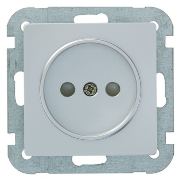 Plieger Luna stopcontact aluminium