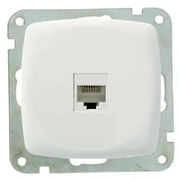 Plieger Aurora UTP stopcontact CAT5 wit
