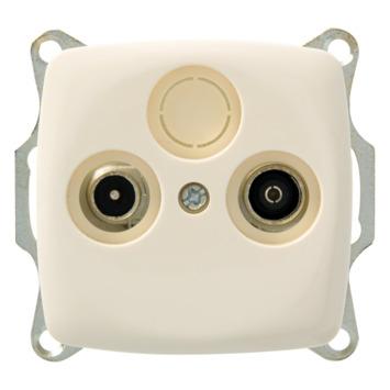 Plieger Aurora Coax stopcontact CAT5 crème