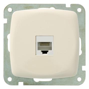 Plieger Aurora UTP stopcontact CAT5 crème