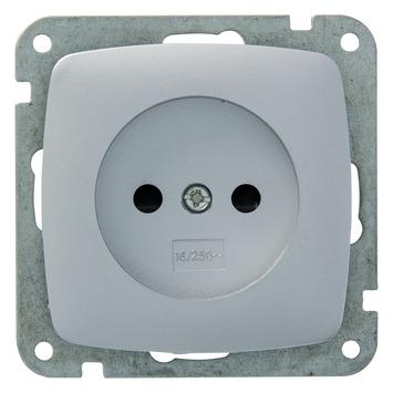 Plieger Aurora stopcontact aluminium