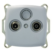 Plieger Aurora Coax stopcontact CAT5 aluminium