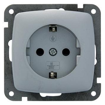 Plieger Aurora stopcontact geaard aluminium