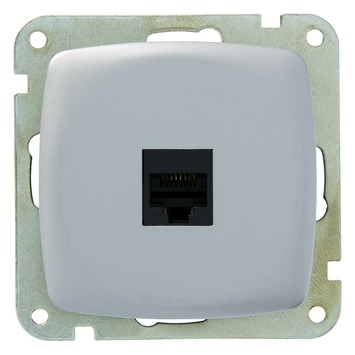 Plieger Aurora UTP stopcontact CAT5 aluminium